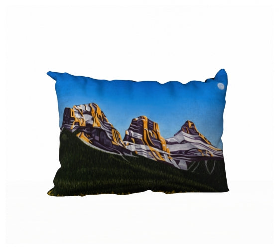 Glowing Sisters pillow by Mountain Moves