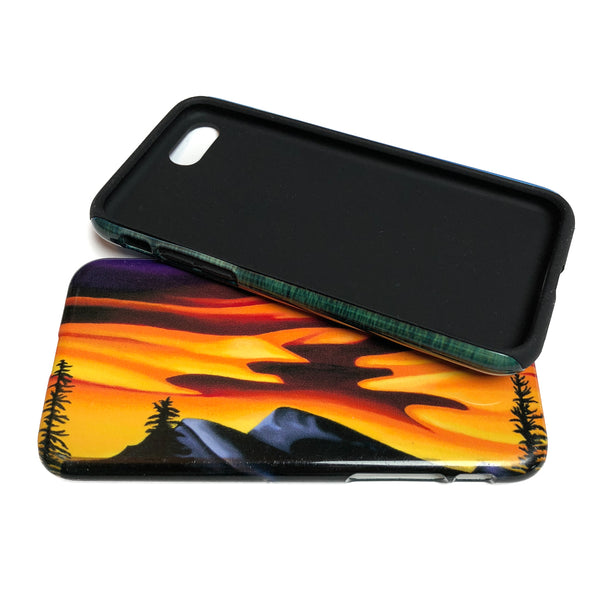 Raspberry Ripple Sunrise smartphone case by Mountain Moves - slim or tough versions