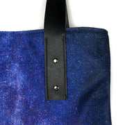 Cascading Stars urban tote bag by Mountain Moves - strap detail