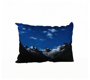 Moonlight, Stars and Spires pillow by Mountain Moves