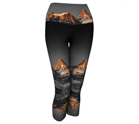 Morning Glow capri-length leggings by Mountain Moves - front