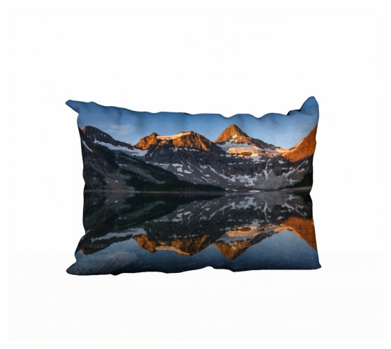 Morning Glow Blues pillow by Mountain Moves