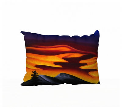 Raspberry Ripple Sunrise pillow by Mountain Moves
