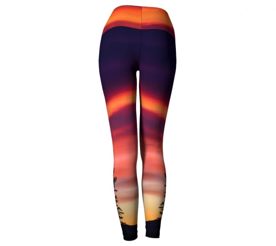 Sunrise for Two leggings by Mountain Moves - back