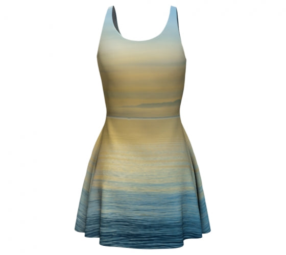 Sea of Calm flare dress by Mountain Moves - back