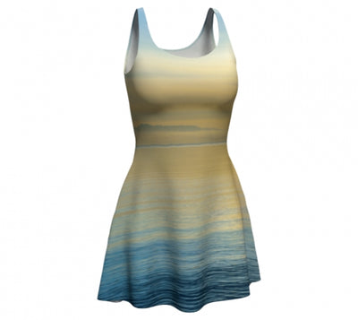 Sea of Calm flare dress by Mountain Moves - front