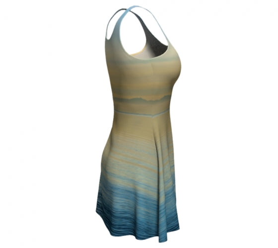 Sea of Calm flare dress by Mountain Moves - right