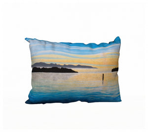 Sea of Calm pillow by Mountain Moves