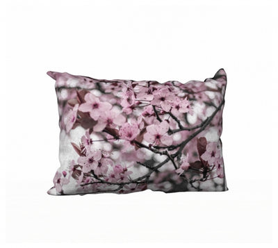Serene Sakura pillow by Mountain Moves / Artwork by Carrie Servos
