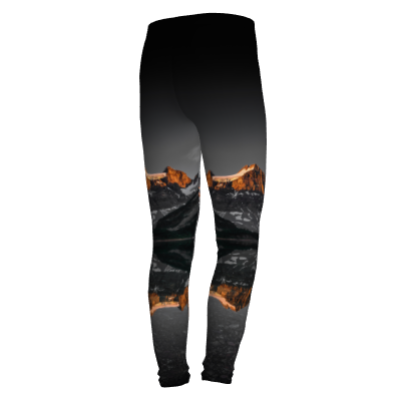 Morning Glow kids leggings by Mountain Moves - back