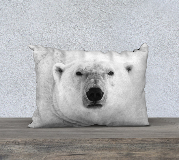Icy Stare B&W Pillow