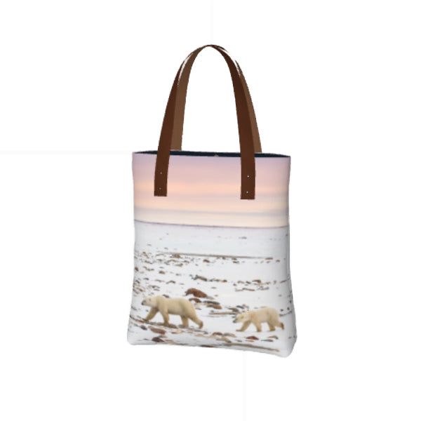Sunset Stroll on the Tundra Tote Bag by Mountain Moves/Artwork by Carrie Servos