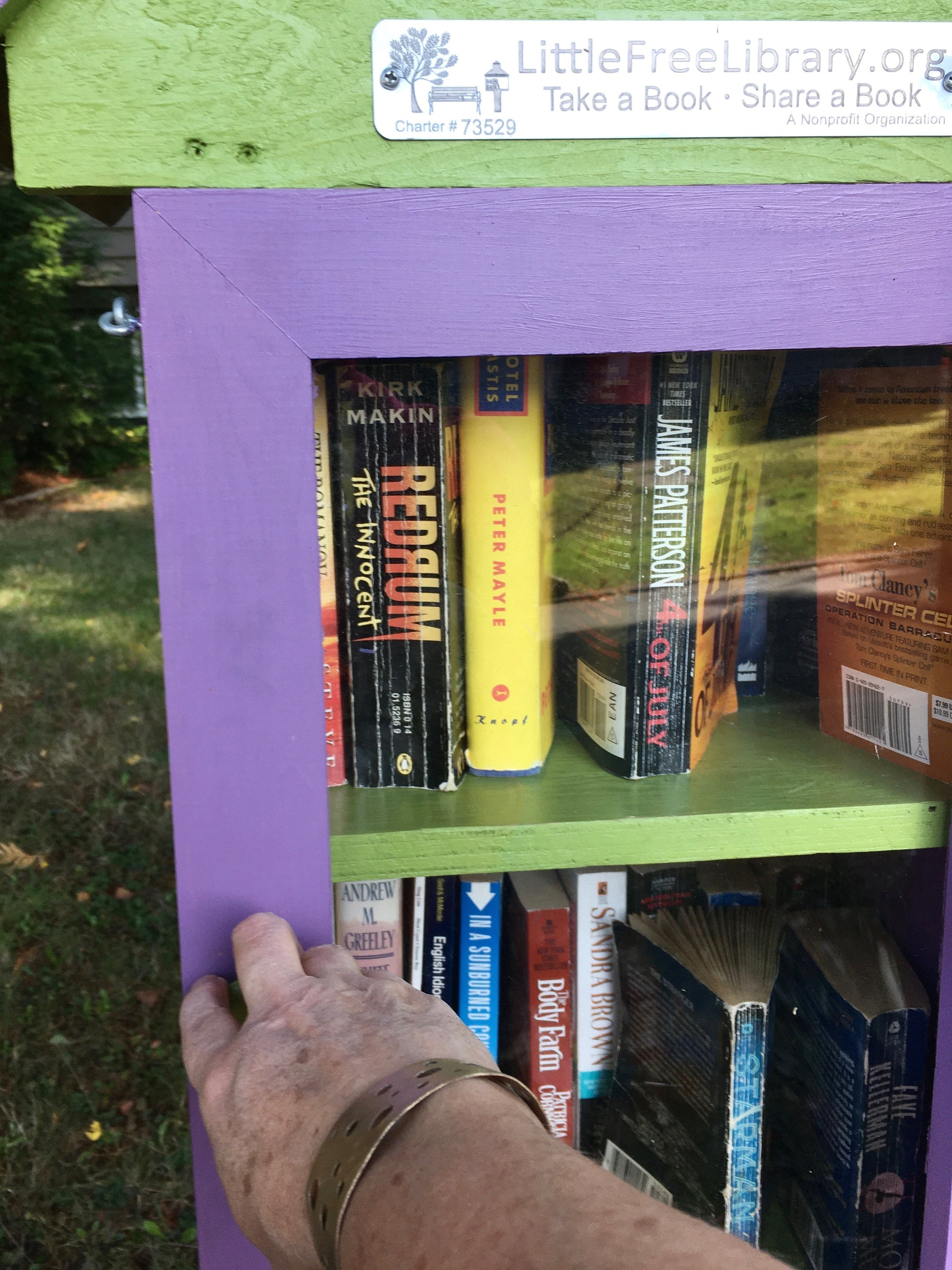 Little Free Libraries and bronze bracelets