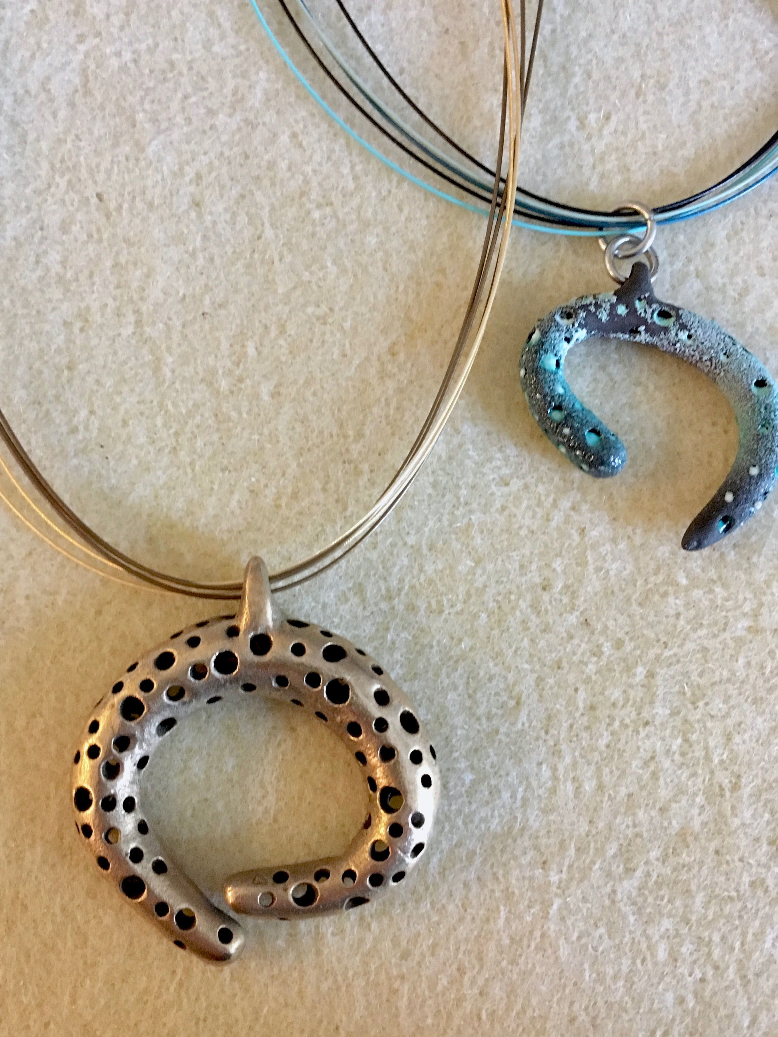 Artisan made ocean inspired pendants