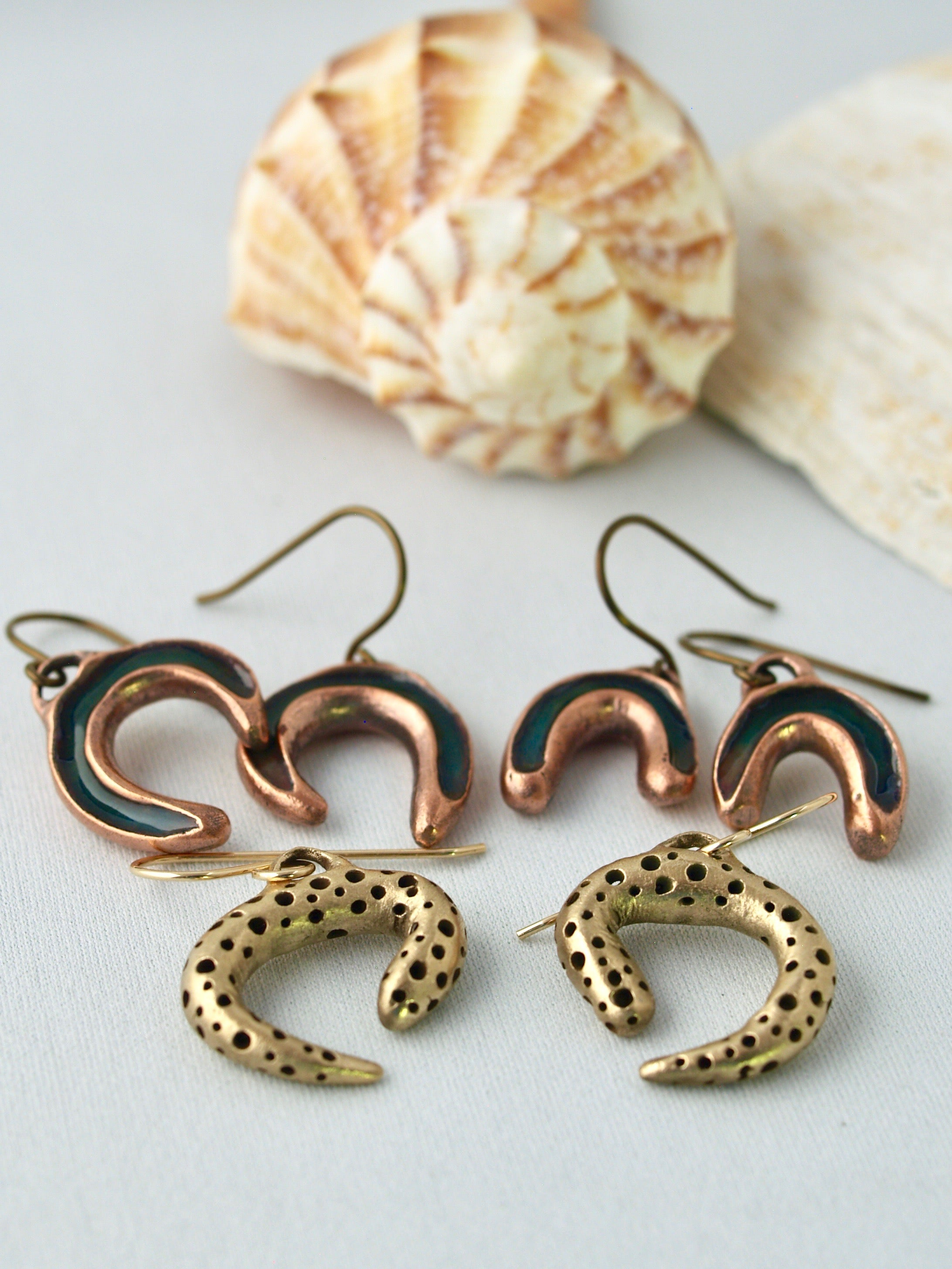 Sculptural bold handmade earrings