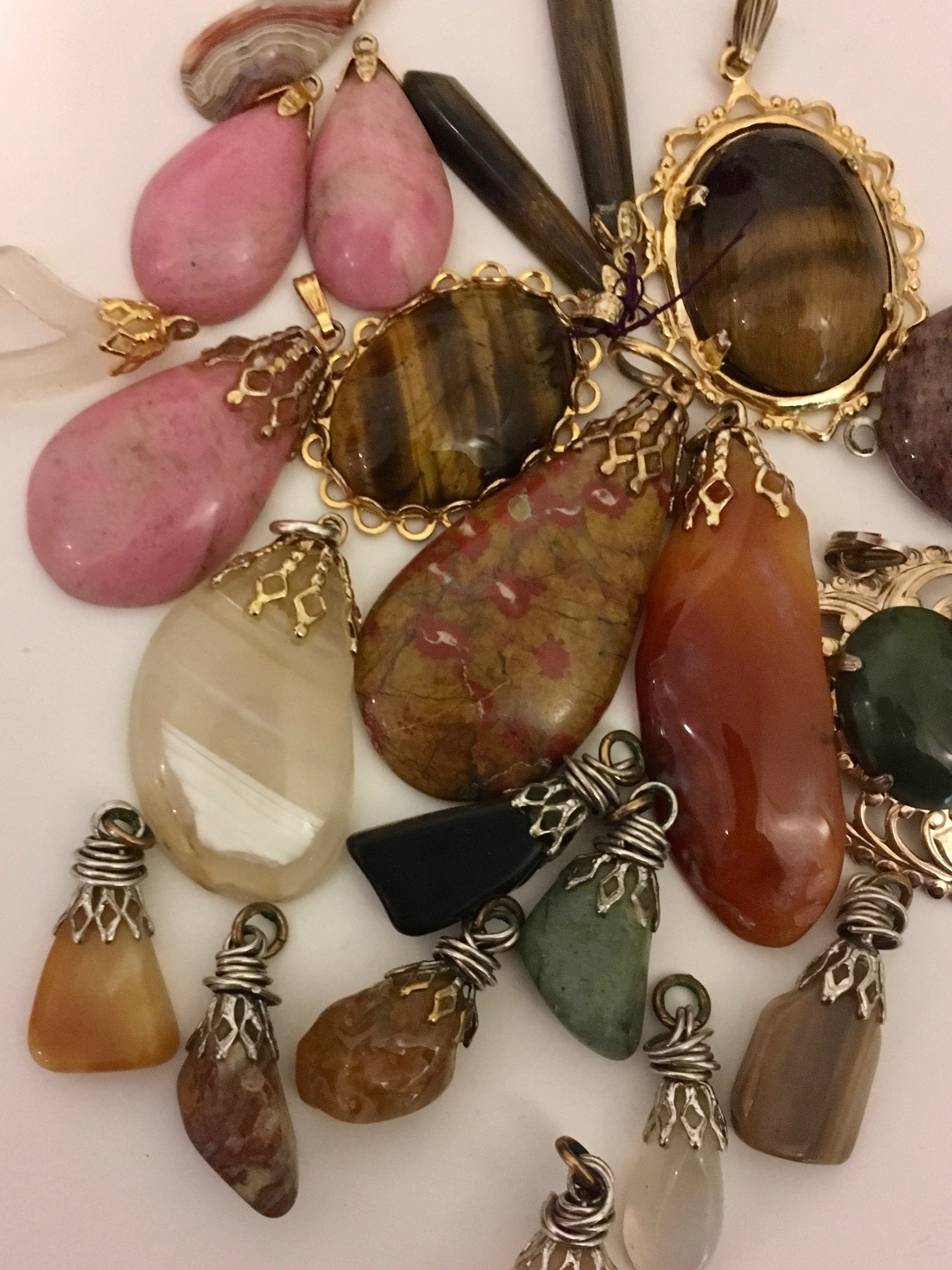 Agate, jade, jasper, tiger eye