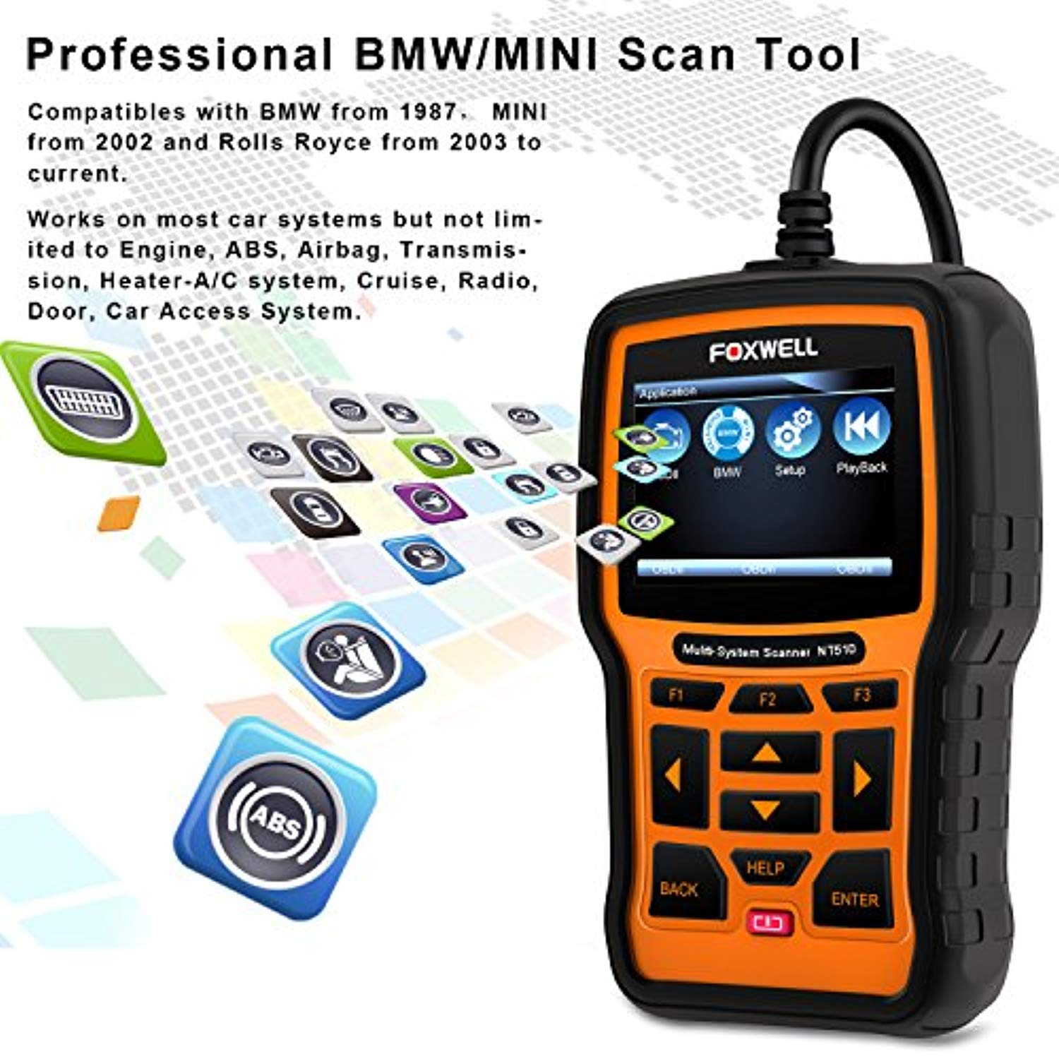 FOXWELL NT510 Automotive Scanner for BMW OBD II Obd2 Code