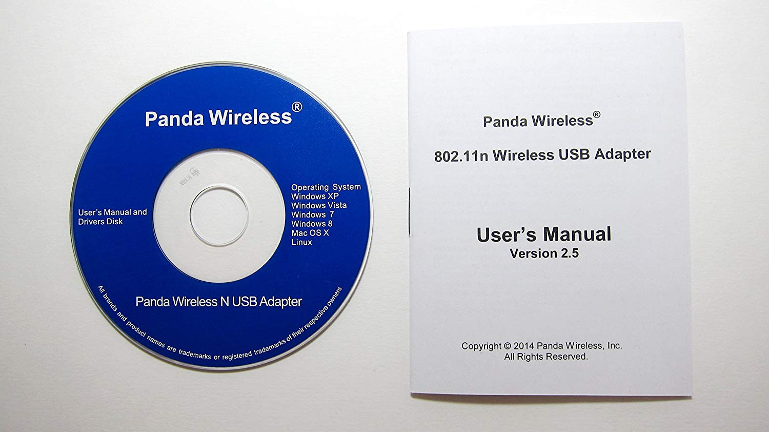 Panda Wireless PAU06 300Mbps Wireless N USB Adapter w// High Gain Antenna