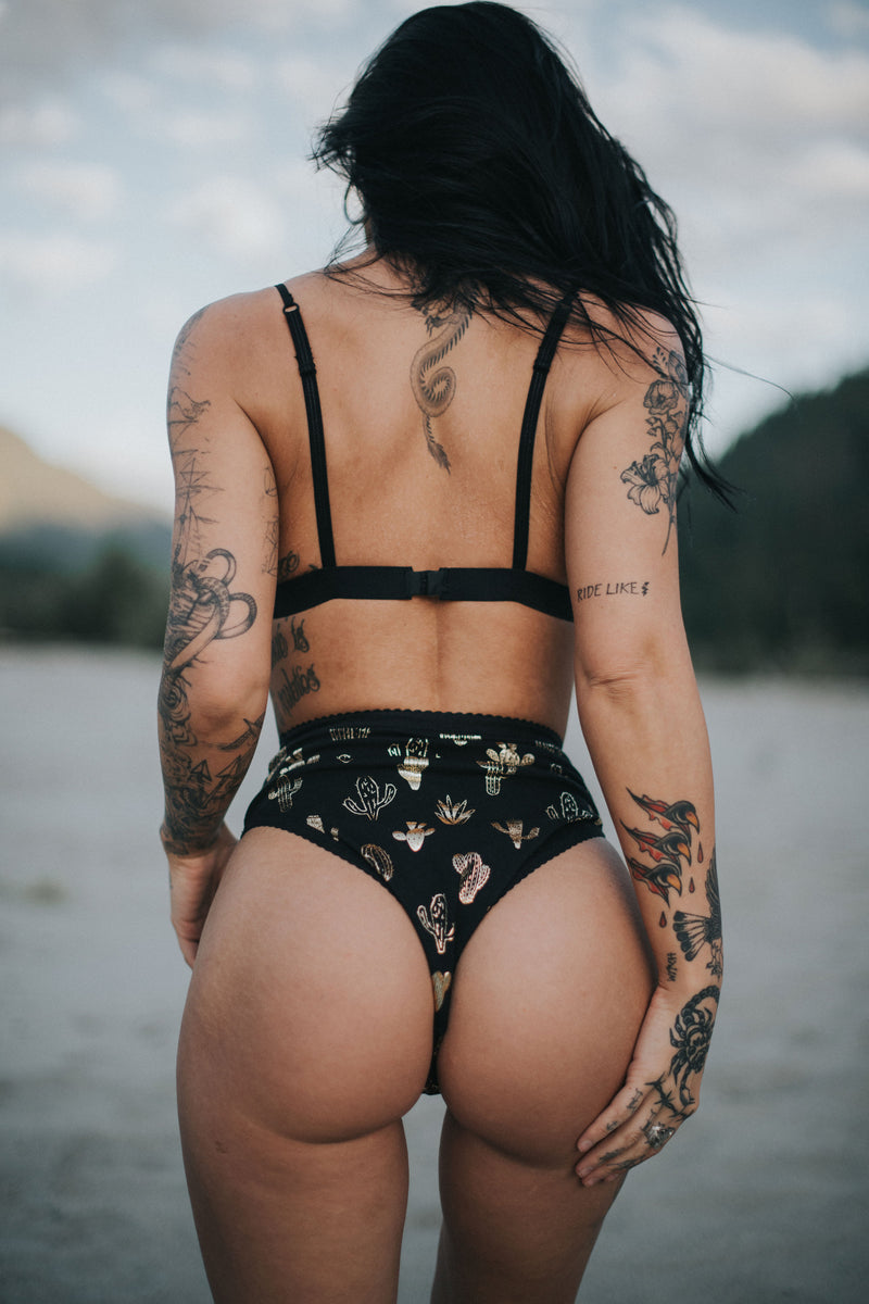 Desert Night Cactus Brief | Finding Rosie Lingerie & Festival Fashion Australia