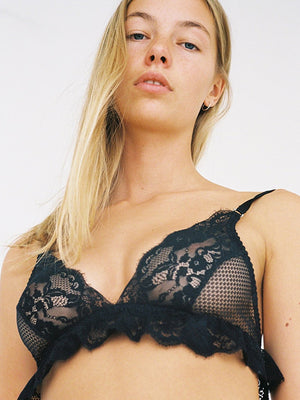 Lonely Lydia black lace bra | Finding Rosie lingerie shop