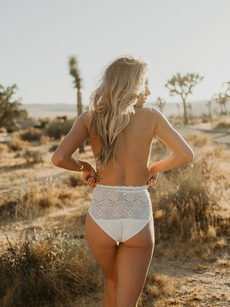 Patsy high-waist ivory white underwear by Lonely | Finding Rosie Australia