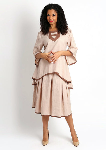 Diana Linen Skirt Set 8215