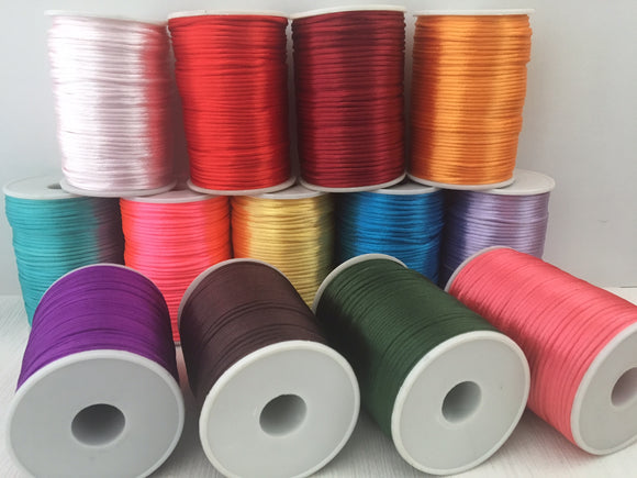 Nylon Cord 2mm 80 Yard Roll Solid Colour