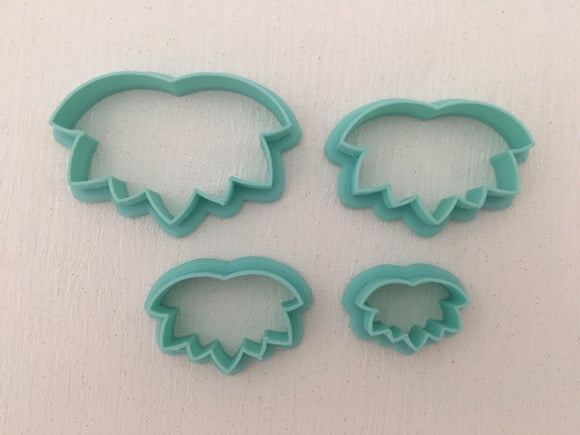 3D Printed Polymer Clay Cutter - Lotus 4 Piece Set