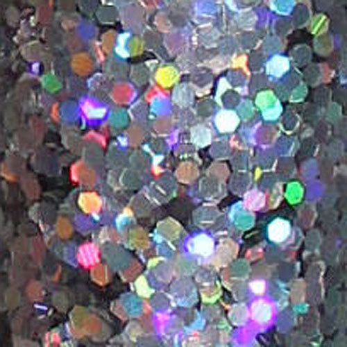 Glitter Large Tube 18G Holographic Silver 88647