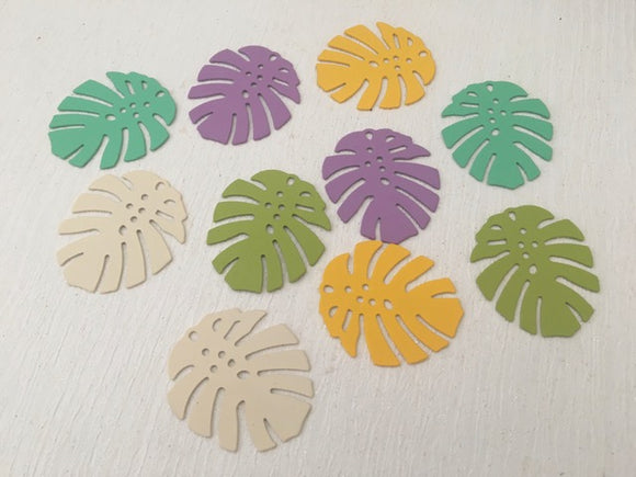 Charm Metal Flat Monstera Leaf 36x32mm Spray Painted 5 Pairs