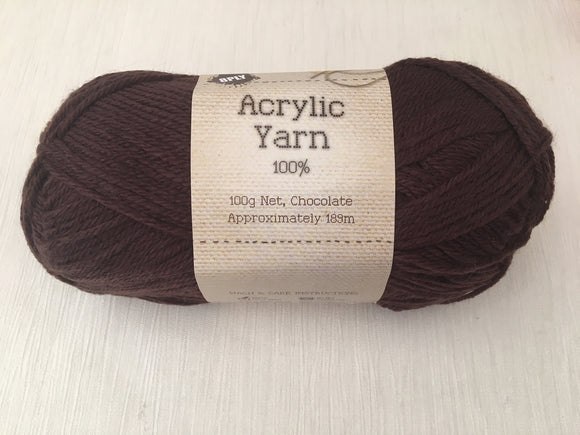 Portacraft Yarn Acrylic 100% 8 Ply 100g Chocolate (Approx. 189m)