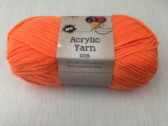 Portacraft Yarn Acrylic 100% 8 Ply 100g Fantapants (Approx. 189m)