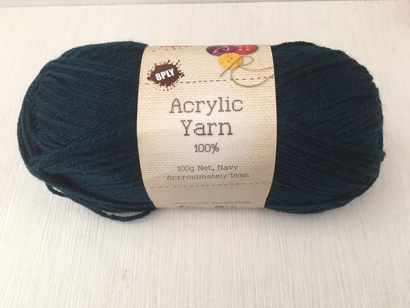 Portacraft Yarn Acrylic 100% 8 Ply 100g Navy (Approx. 189m)