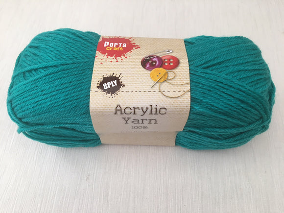 Portacraft Yarn Acrylic 100% 8 Ply 100g Teal (Approx. 189m)