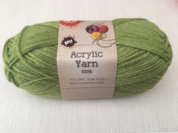 Portacraft Yarn Acrylic 100% 8 Ply 100g Tree Frog (Approx. 189m)