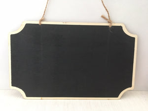 Portacraft Chalkboard Rectangular Hanging Double Sided 260mm x 160mm