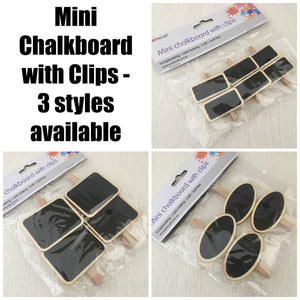 Portacraft Mini Chalkboard with Clips