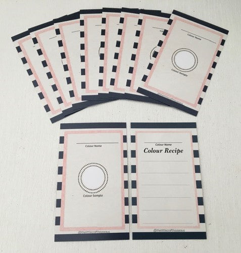 Colour Recipe Card 20PK