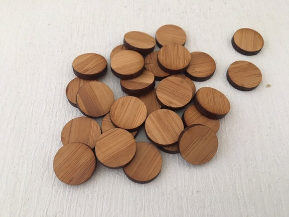 Laser Cut Bamboo Veneer Circle 16mm