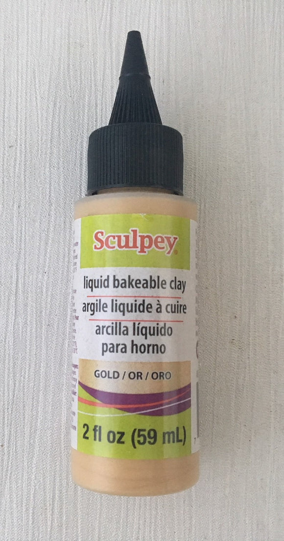 Sculpey Liquid Bakeable Clay Gold 2oz 59ml