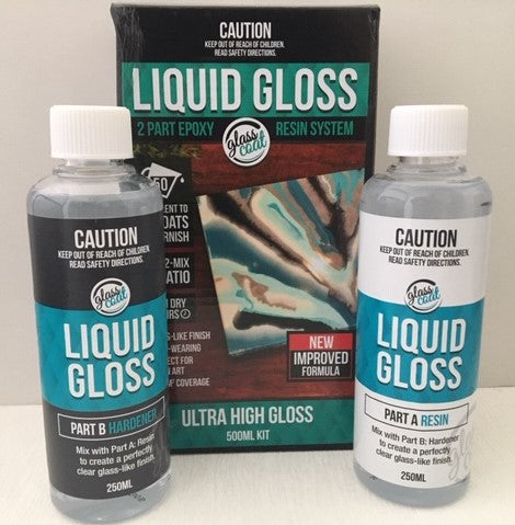 Glass Coat Liquid Gloss 500ml Resin Kit