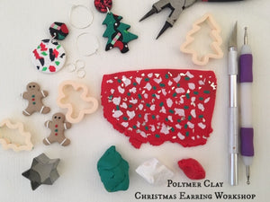 Polymer Clay Christmas Earring Workshop (Adult) 3 Hours - Saturday 30th November