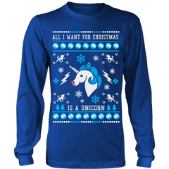 Ugly Christmas Sweater - All I Want for Christmas is a Unicorn