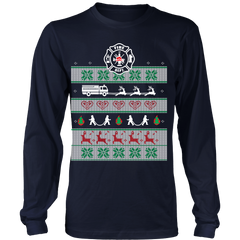 Ugly Christmas Sweater - Call the Fire Department!