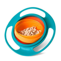 The Spill-Proof Bowl with Sealing Lid- Gyroscopic Bowl that Will Not Spill