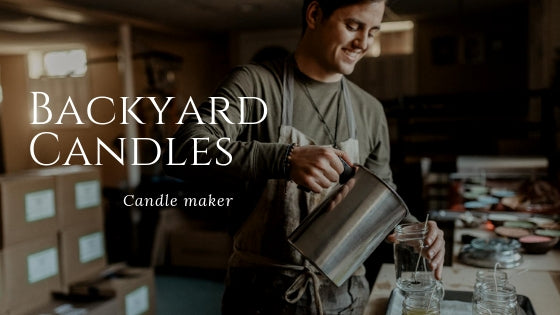 Backyard Candles Founder Justin Healy