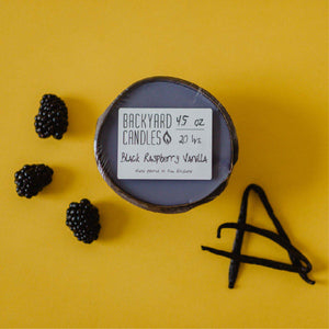 black raspberry vanilla candle