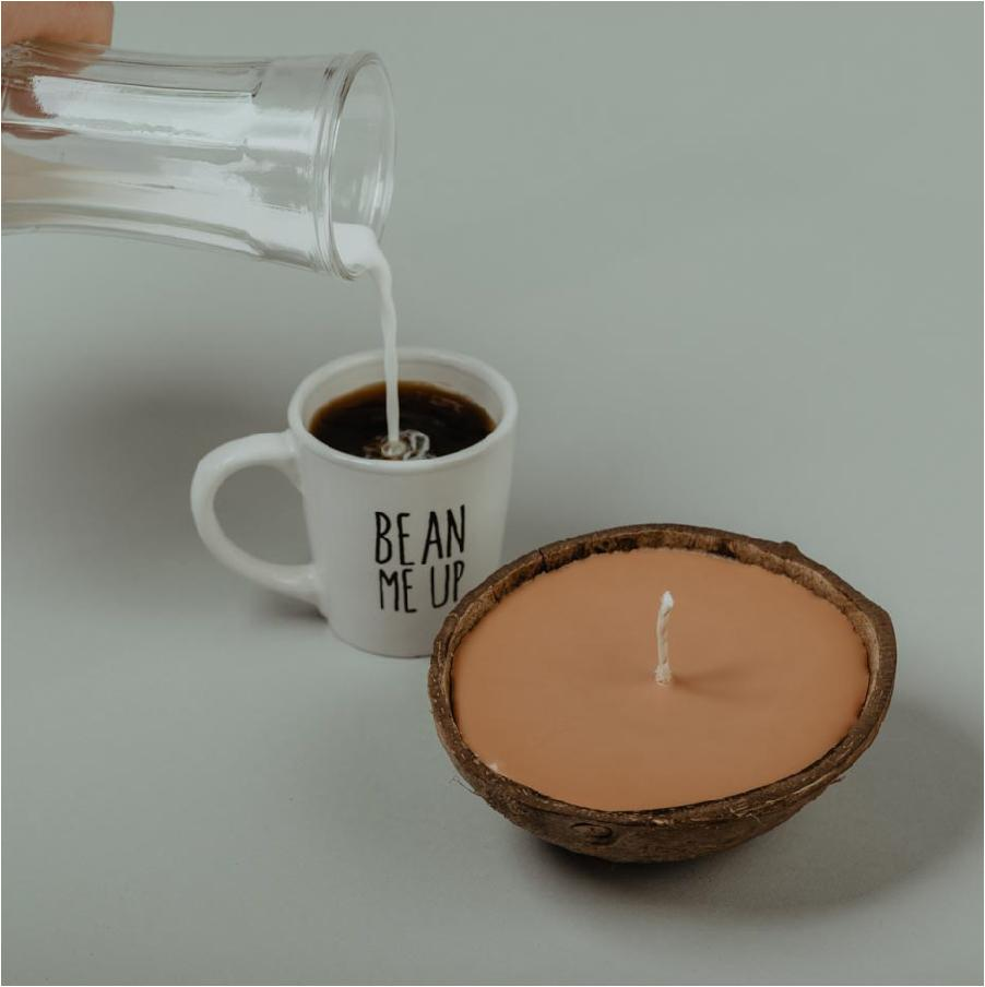Load image into Gallery viewer, coffee and cream soy candle