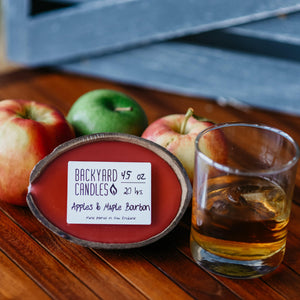 apples and bourbon candle scent
