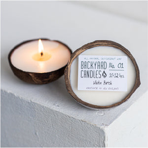 Small Coconut Shell Candle